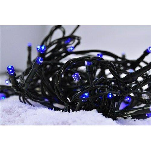 Solight Vánoční řetěz 60 LED modrá, 10 m