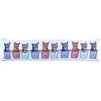 Ozdobný těsnící polštář do oken Kočky, 90 x 22 cm