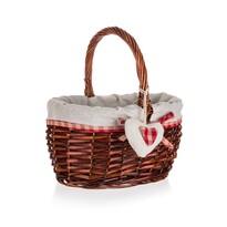 Home Decor Proutěný košík s držadlem Classic, 23  x 19,5 x 12 cm