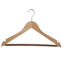Altom Wieszak drewniany na ubrania z poprzeczką antypoślizgową