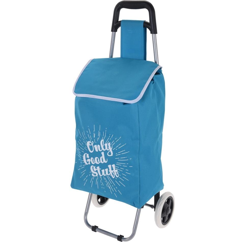 Koopman Nákupní taška na kolečkách Only Good Stuff, modrá