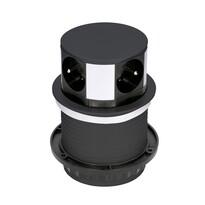 Solight PP100 Výsuvný predlžovací blok so 4 zásuvkami, čierna
