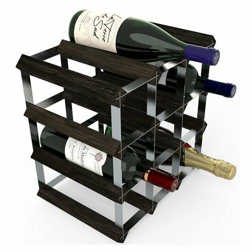 Stojan na víno RTA na 12 lahví, černý jasan - pozinkovaná ocel / rozložený