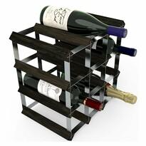 Suport 12 sticle de vin RTA, frasin negru