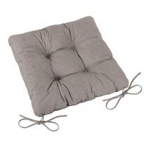 Pernă de scaun matlasată Adéla Uni natural, 40 x 40 cm