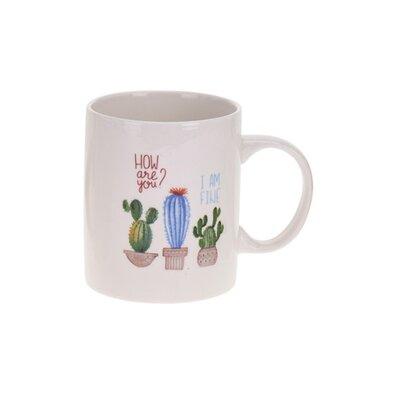 Porcelánový hrnek Kaktus, modrá