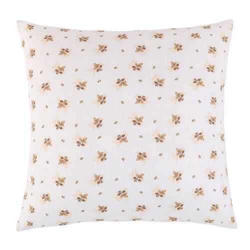 Poduszka Adela Beżowe kwiatki, 40 x 40 cm