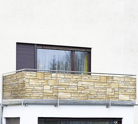 Wenko Zástěna na balkón cihly