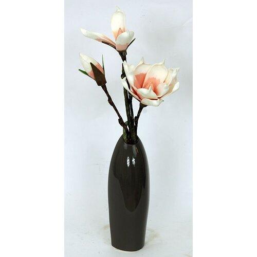 Keramická váza Acre hnedá, 25,5 cm