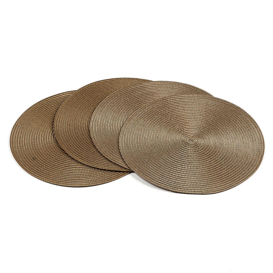 Jahu Prestieranie Deco okrúhle svetlo hnedá, pr. 35 cm, sada 4 ks