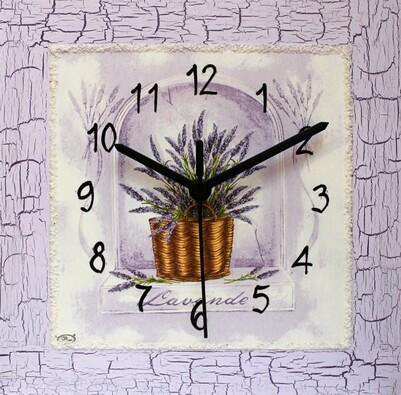 Nástěnné hodiny levandule