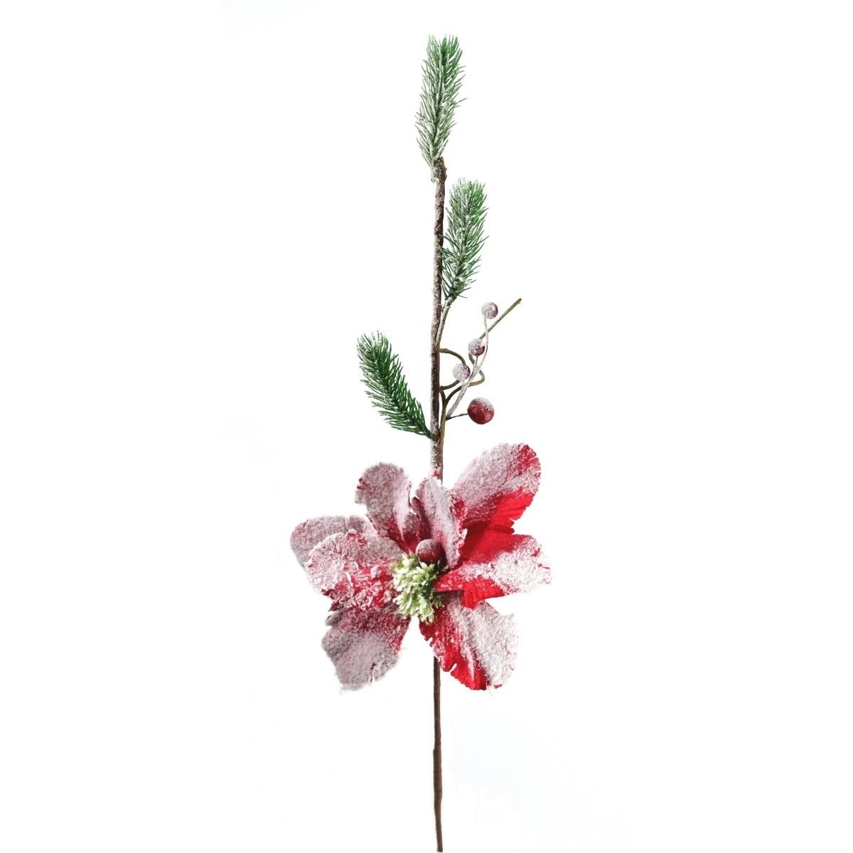 Dekoračná kvetina Zasnežená magnólia, 60 cm