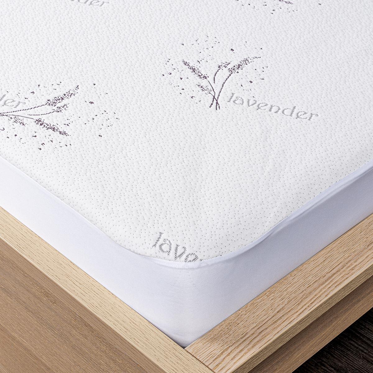 4Home Lavender Chránič matrace s lemem, 200 x 200 cm