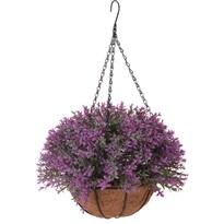 Mirabel művirág lógó virágtartóban, sötétrózsaszín