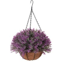 Umelá kvetina v závesnom kvetináči Mirabel, tmavoružová