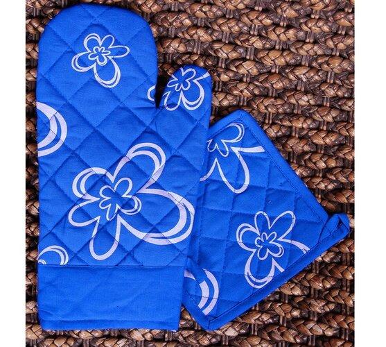 Kuchyňská souprava Květ, modrá