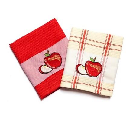 Kuchyňské utěrky Jablko, 45 x 70 cm, sada 2 ks