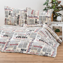 Newspaper mikroplüss ágyneműhuzat, 140 x 200 cm, 70 x 90 cm