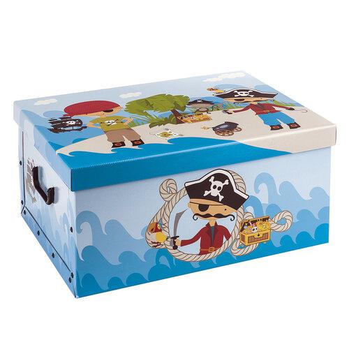 Detský úložný box Piráti, modrá