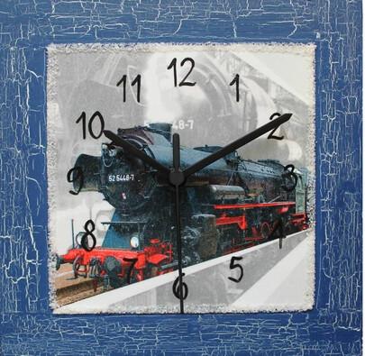 Nástěnné hodiny Lokomotíva