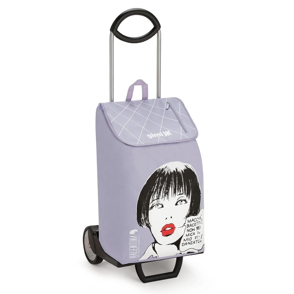 Nákupná taška na kolieskch Valentina Sogno fialová,