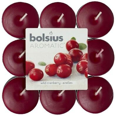 Čajová svíčka Aromatic, Wild cranberry, 18 ks, Bolsius