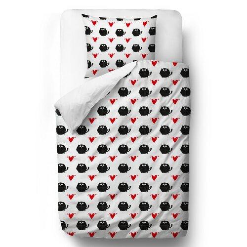 Butter Kings Saténové obliečky Valentine´s heart, 140 x 200 cm, 70 x 90 cm