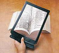 Sklo zvětšovací  na čtení transparentní