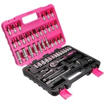 Se chei tubulare Sixtol Pink, 53 buc.