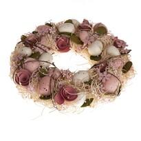 Veľkonočný veniec s umelými kvetinami Nela, 31 cm