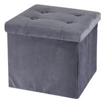 Koopman Úložný sedací box Smooth Velvet, šedá