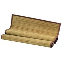 Mata bambusowa za łóżko, brązowa