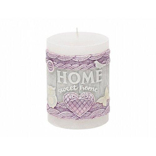 Dekorativní svíčka Bartek Candles Home Sweet Home - Bílá 275 g
