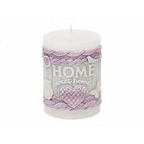 Dekoratívna sviečka Home, biela