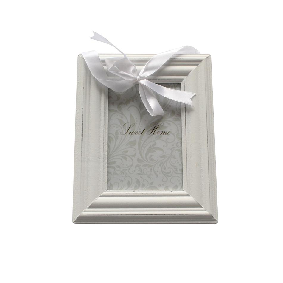 Závesný fotorámček biela, 10 x 15 cm