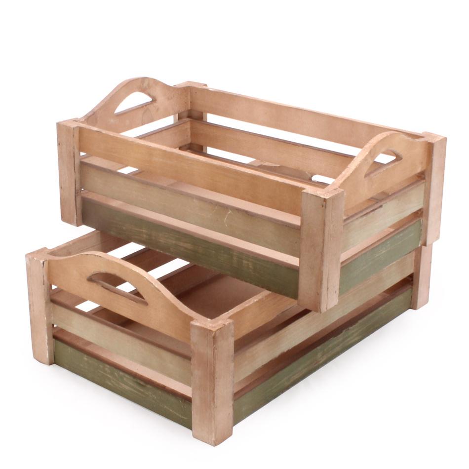 Dřevěná přepravka 2 ks, JB280