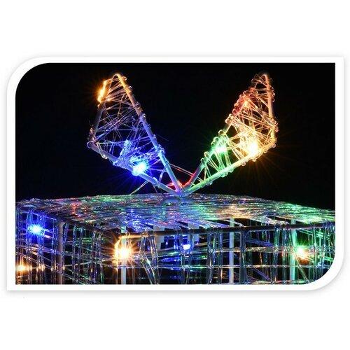 Gift karácsonyi drót dísz készlet, 3 db, 90 LED