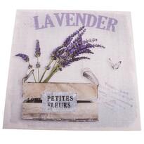Petites Fleurs vászonkép levendulával, 40 x 40 cm