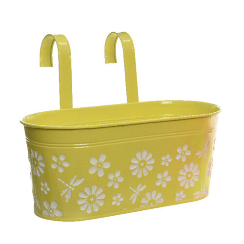 Závesný truhlík Flowers žltá, 26 cm