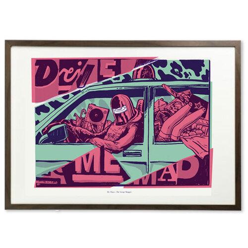 Funk Fu Plagát Drive Me Mad 70 x 50 cm, digitálna tlač