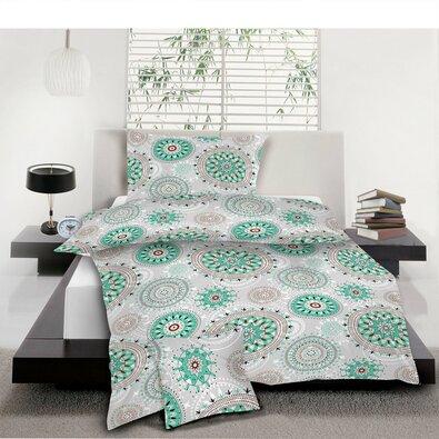 Bavlněné povlečení Mandala tyrkys, 140 x 200 cm, 70 x 90 cm, 40 x 40 cm