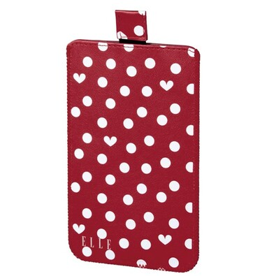 ELLE Hearts & Dots obal na mobil, velikost XXL