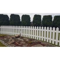 Zahradní plůtek Mega bílá, 4,7 m