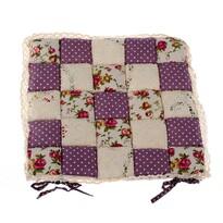Pernă scaun Patchwork Trandafir violet, 40 x 40 cm