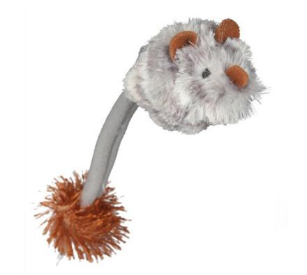 Plyšová myš se zvukem a světlem, šedá, 19 cm