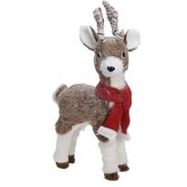 Vianočná dekorácia Deer with red scarf, 24 x 14 x 43 cm