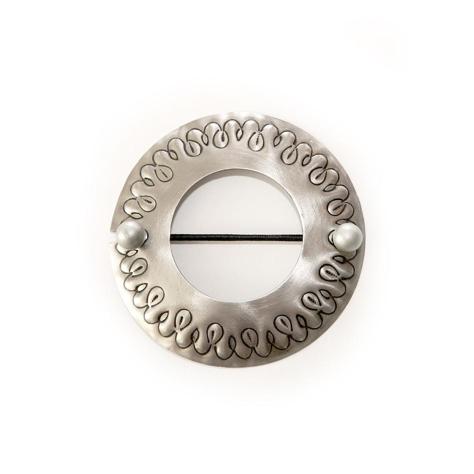 Gardinia Dekoračná sponka Kruh ušľachtilá oceľ, 12 cm,