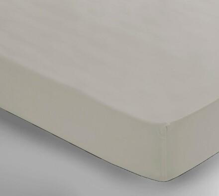 Saténové prostěradlo Uni béžová, 150 x 240 cm