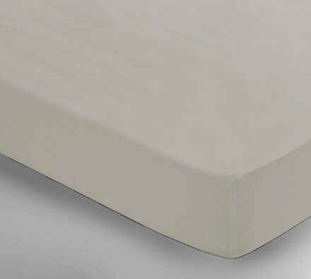 Saténové prostěradlo Uni béžová, 2 ks 150 x 240 cm