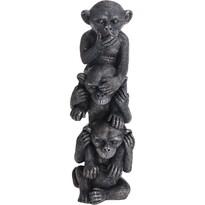 Koopman Három bölcs majom polyresin dekoráció, 31 cm